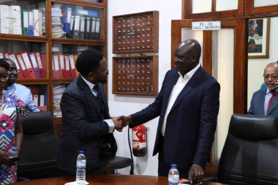 Prof. Mbarika Meeting with Prime Minister of Guinea Bissau