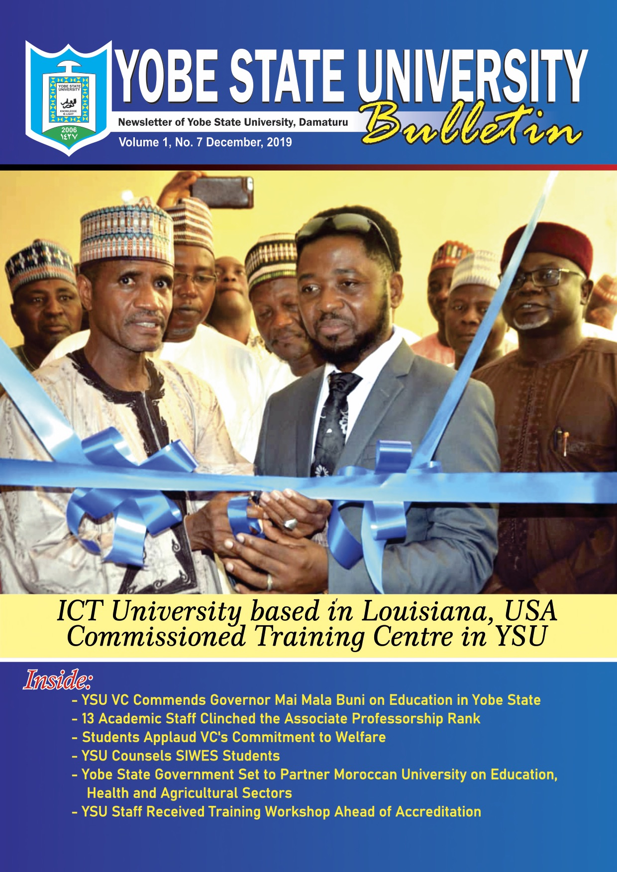 ICT-U President, Prof. V. Mbarika Commissions the ICT Center at YSU