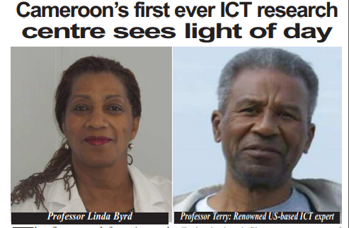 Launching of Cameroon's first ICT-focused research center, the Terry and Linda Byrd Research Center