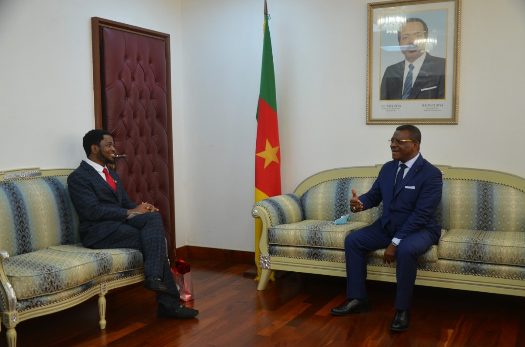 The Prime Minister Head of  Government, Chief Dr Joseph Dion Ngute Received Prof. Victor Mbarika