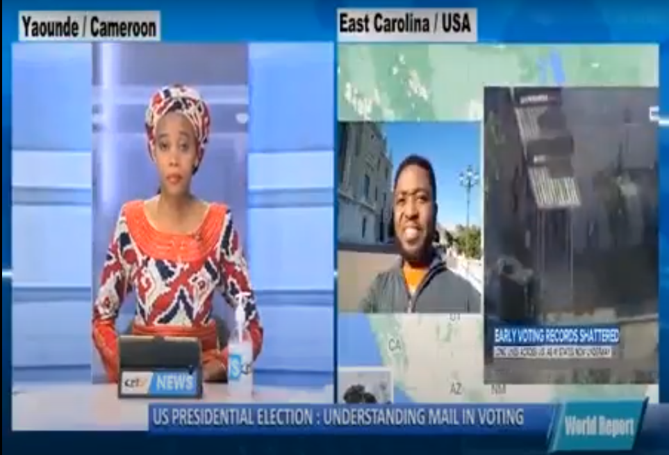 East Carolina University's  (ECU) Professor Victor Mbarika interviewed by foreign media on the US elections